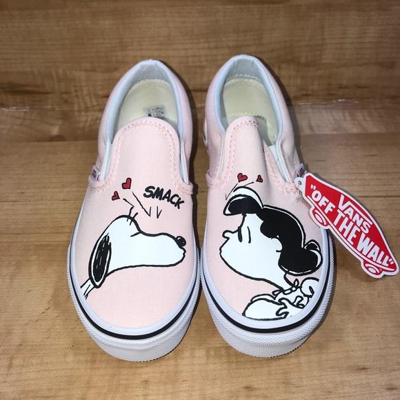 2ec182eaf828c2 Vans Classic Slip-On (Peanuts) Smack Pearl Shoe 13